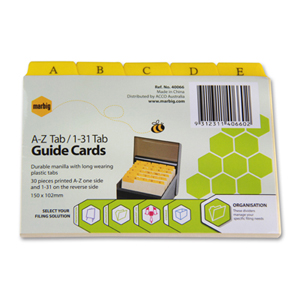 Alpha Index cards