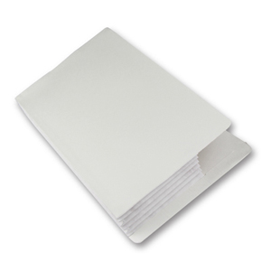 FO-007-01 Super heavy duty concertina pocket with Tyvek (cloth) gusset.  White.