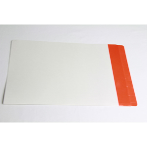Filequest FSI 330 gsm partially laminated file folder.  Double reinforced Dark Orange end tab. Legal size