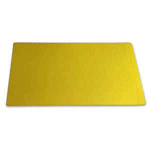 Filequest FSI 330 gsm fully laminated yellow file folder.  Double reinforced end tab.  Legal size.