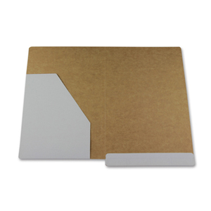 file folder with left hand pocket with three piece fastener installed.  NZ F/cap.