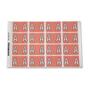 LA-002-AA Filequest Alpha Labels Letter A