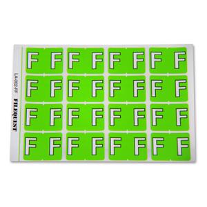 LA-002-FF Filequest Alpha Labels Letter F