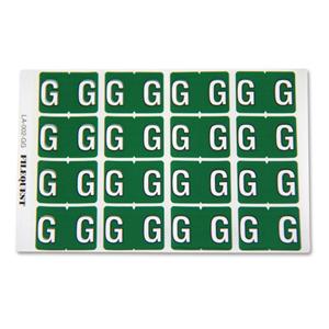 LA-002-GG Filequest Alpha Labels Letter G