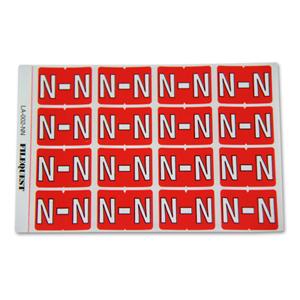 LA-002-NN Filequest Alpha Labels Letter N