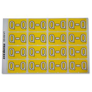 LA-002-QQ Filequest Alpha Labels Letter Q