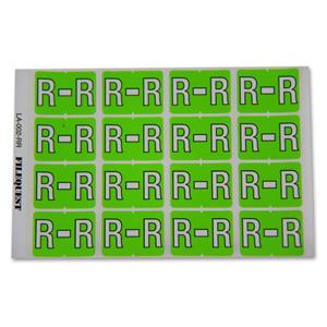 LA-002-RR Filequest Alpha Labels Letter R