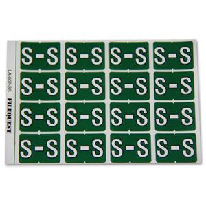 LA-002-SS Filequest Alpha Labels Letter S