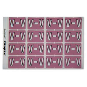 LA-002-VV Filequest Alpha Labels Letter V
