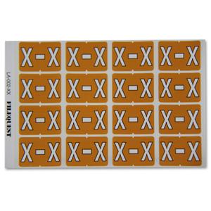 LA-002-XX Filequest Alpha Labels Letter X