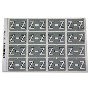 LA-002-ZZ Filequest Alpha Labels Letter Z