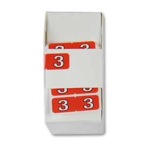 FSI ½-size Numeric labels 3