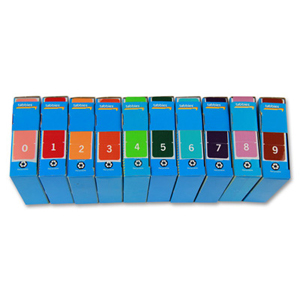 Colour coded filing - labels - FSI Top Tab numeric starter kit