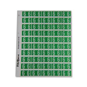 RM25 numeric label 6