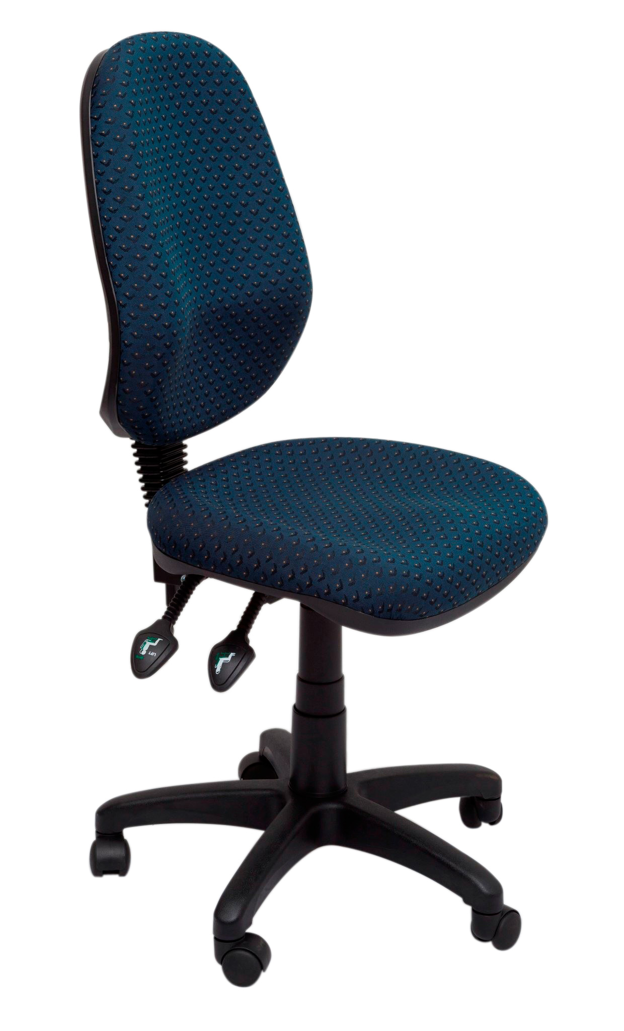 EC070BH Operator Chair High back Gas lift Fabric Night Flight